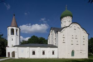 world heritage/building exterior/russia veliky novgorod saint theodores church