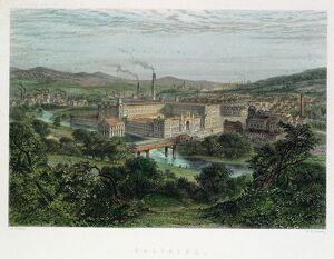 Saltaire, model textile factory and town near Bradford,Yorkshire, England. Founded by Titus Salt
