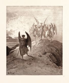 universal images group/universal history archive 19th century/satan vanquished gustave dore dore 1832 1883