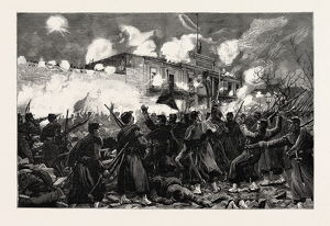 Scenes At Buenos Ayres During The Revolution In Argentina: The Fighting Outside The