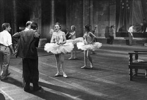 Behind the scenes at the grand opera and ballet theater of the ussr, ballet dancers at a rehearsal