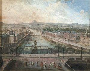 The Seine River seen from Place Dauphine by unknown artist