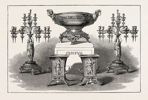Service Of Plate Presented By The United States Government To Each Of The Geneva
