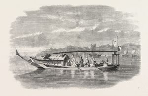 SKETCHES FROM JAPAN: GOVERNMENT BOAT, 1861