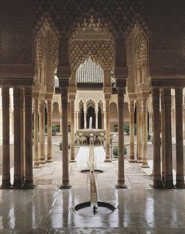 Spain, Andalusia Region, Granada Province, Granada Alhambra Palace, Court of Lions