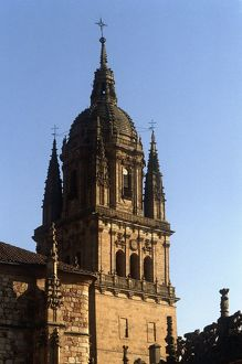 Spain, Castile and Leon, Salamanca, bell tower of New Cathedral