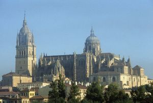 Spain, Castile and Leon, Salamanca, Old and New Cathedrals