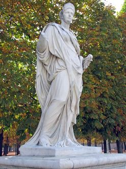 Statue of Agrippina in the Tuileries Garden 2013 A.D.