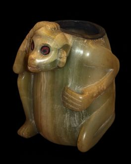 Stone Vessel in the form of a Monkey 1521 A.D.