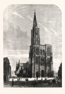 STRASBOURG CATHEDRAL, 1861