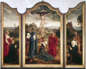 history/religion/triptych crucifixion artist quentin metsys