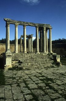 Tunisia, Dougga, ruins of Roman temple