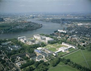 UK, England, London, Aerial view of Greenwich