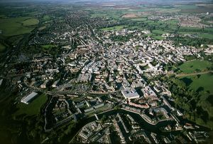 UK, Oxfordshire, Aerial view of Oxford