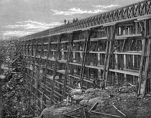 history/union pacific railroad wooden trestle bridge