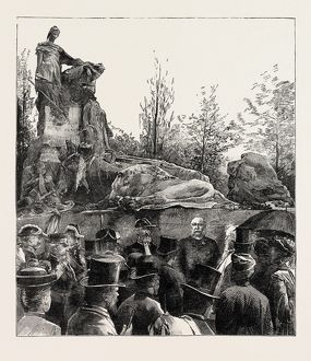 The Unveiling Of The Waterloo Monument In The Evere Cemetery
