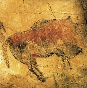 art/archeology/upper paleolithic cave paintings acephalous bison