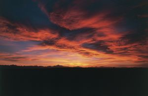 USA - Colorado. Sunset over the Rocky Mountains