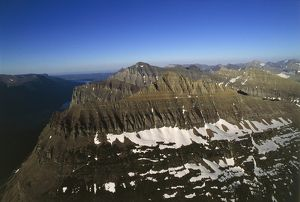 USA, Montana, Aerial view of the Rocky Mountains in Glacier National Park (UNESCO