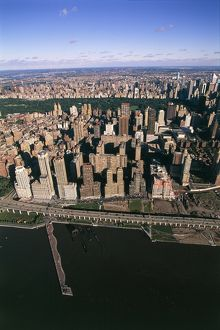 USA, New York, New York City, Aerial view of Upper West Side