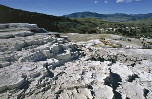 USA, Wyoming, Yellowstone National Park (UNESCO World Heritage List, 1976). Mammoth hot Springs