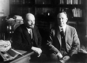 V, i, lenin with parley christensen, 1920 usa presidential candidate representing