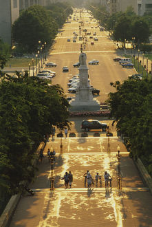 View from the US Capitol looking down Pennsylvania Avenue