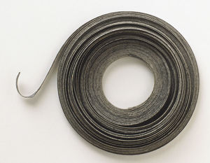 Above view, reel of magnesium metal ribbon.