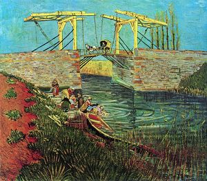 Vincent van Gogh's The Langlois Bridge at Arles 1888 A.D