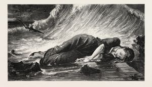 VIRGINIA DROWNED, FROM THE PAINTING BY J. BERTRAND