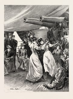 A Visit Of The Channel Squadron To Cadiz: Two Spanish Ladies Dancing The Sevillana