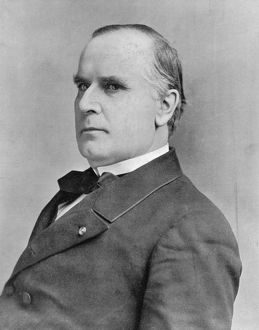 William McKinley (1843-1901) 25th president of USA from 1896. Shot by anarchist Leon