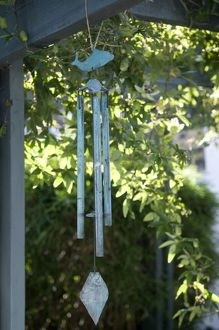 Wind Chime hanging, close-up