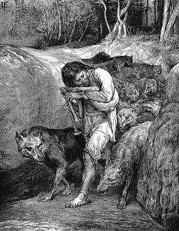 The Wolf-Charmer. Illustration by John La Farge published New York 1881. Belief in
