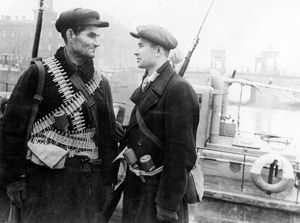 workers' militia in leningrad, during world war ll.