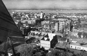 World war 2, the city of dniepropetrovsk liberated by the red army on october 25, 1943.