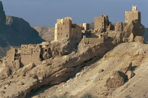 world heritage/building exterior/yemen province sanaa traditional mud brick houses