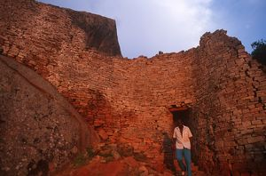 Zimbabwe, Masvingo, Great Zimbabwe National Monument, Ruins of old town