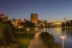 Adelaide City at twilight time, South Australia