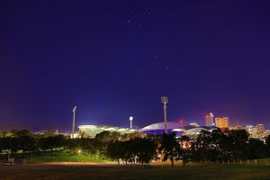 Adelaide Oval at night. South Australia.