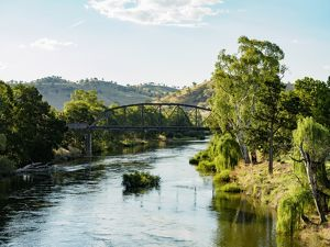 Australia, New South Wales, Gundagai, Bridge over river