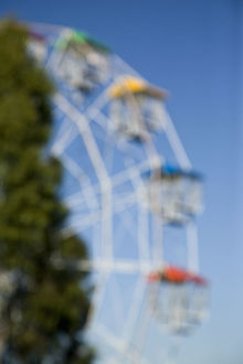 Blurred view of a ferris wheel