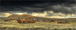 Bodie, in the Sierra Nevada mountains, is an abandoned mining town near the border of Nevada