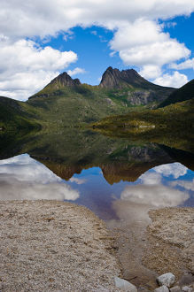 Cradle Mountain on summer day