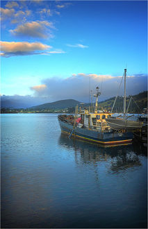 Dover, a small fishing village in the south of Tasmania.