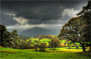 English countryside in the Lakes district, Cumbria.