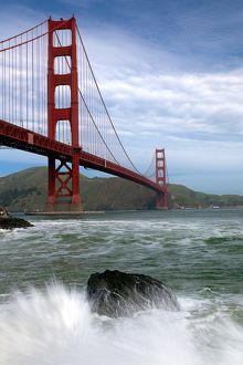 Golden Gate Bridge splash