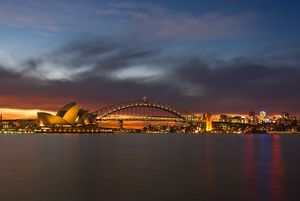 Golden Sunset over Sydney Harbour