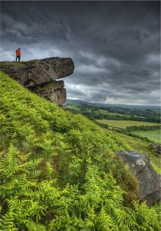 The hanging stone in the Peak district, Cheshire, England