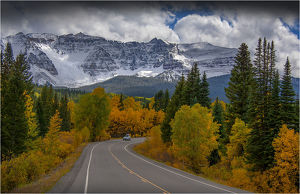 Highway to Durango, Colorado, south western United States of America